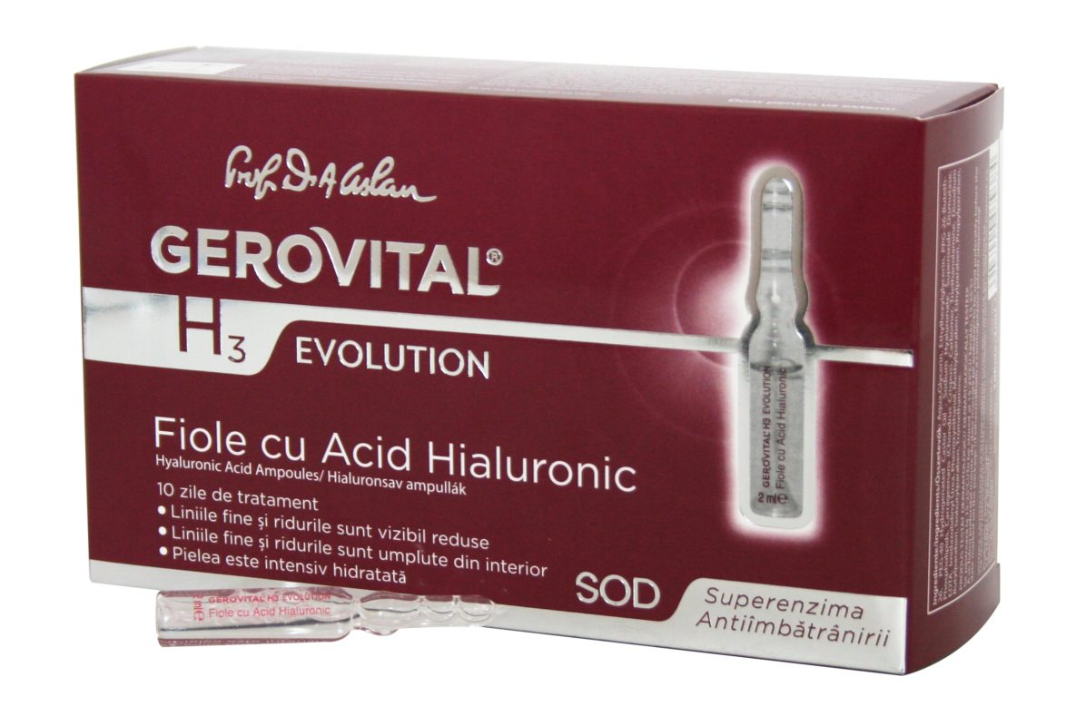 Hyaluronic Acid Ampoules Gerovital H3 Evolution