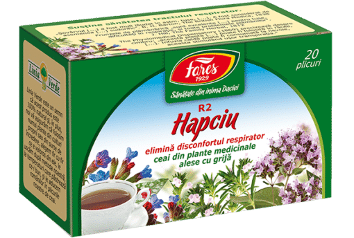 Fares Hapciu Eliminates respiratory distress, 20 tea bags.