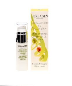 Anti-wrinkle night cream with stem cells